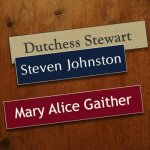 8 X 2 Name Plate Name Badges | Plates