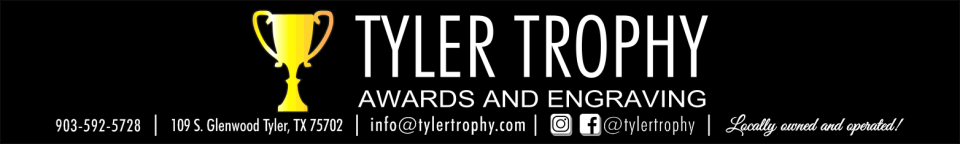 Tyler Trophy - acrylic awards, crystal awards, cup trophies, perpetual plaques, baseball trophies, football trophies, soccer trophies, corporate plaques, recognition plaques, glass awards, gifts, clocks, corporate awards, tyler, tx, texas